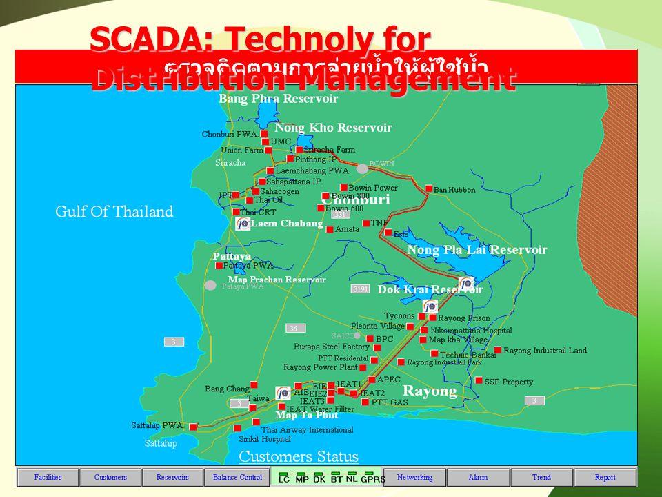 ตรวจติดตามการจ่ายน้ำให้ผู้ใช้น้ำ SCADA: Technoly for Distribution Management