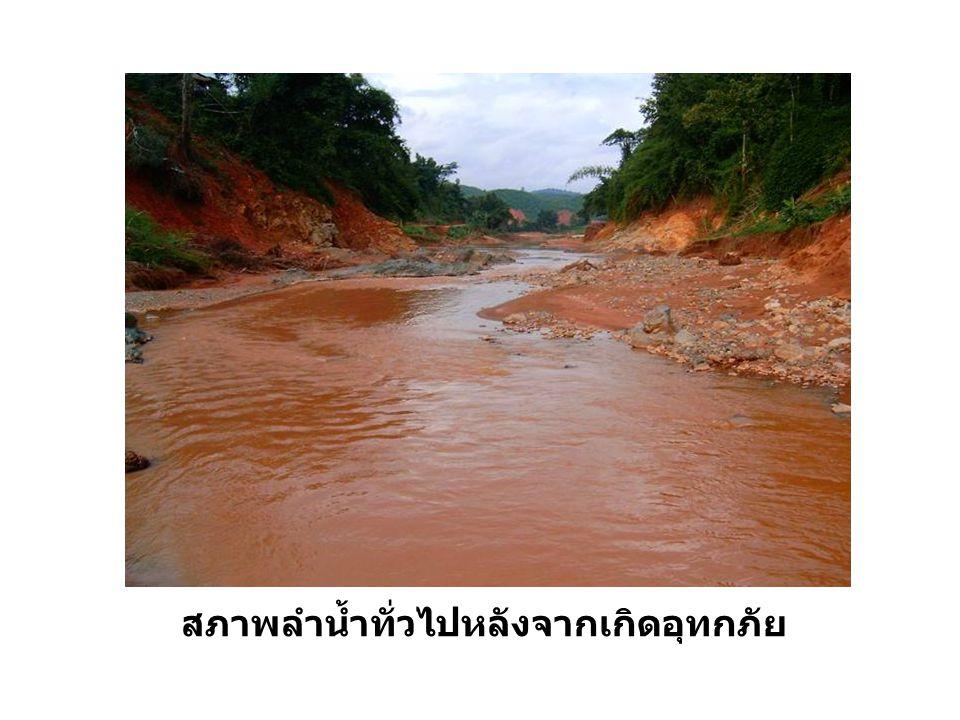สภาพลำน้ำทั่วไปหลังจากเกิดอุทกภัย
