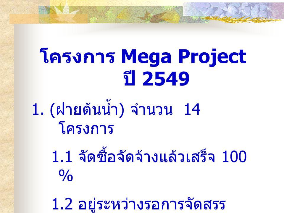 โครงการ Mega Project ปี 2549 1.
