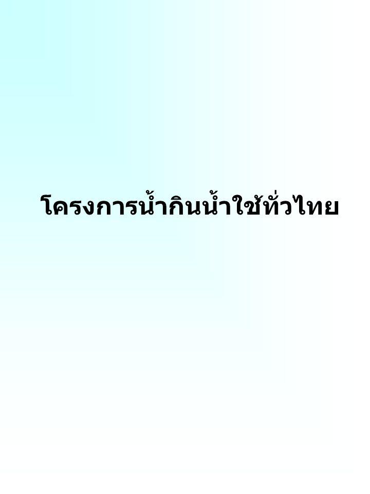 โครงการน้ำกินน้ำใช้ทั่วไทย