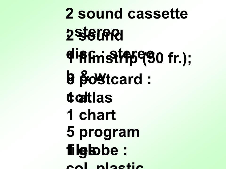 2 sound cassette : stereo 8 postcard : col.