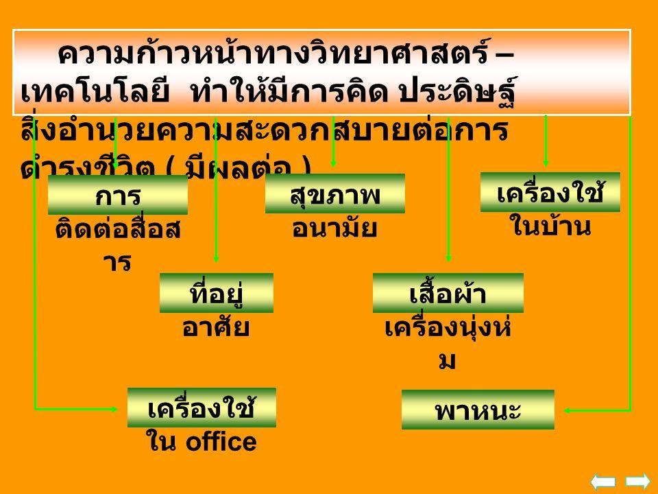 ความเปลี่ยนแปลงทางเทคโนโลยี มี ผลกระทบต่อประเทศไทย กรอบนโยบายเทคโนโลยีสารสนเทศ ระยะ พ.