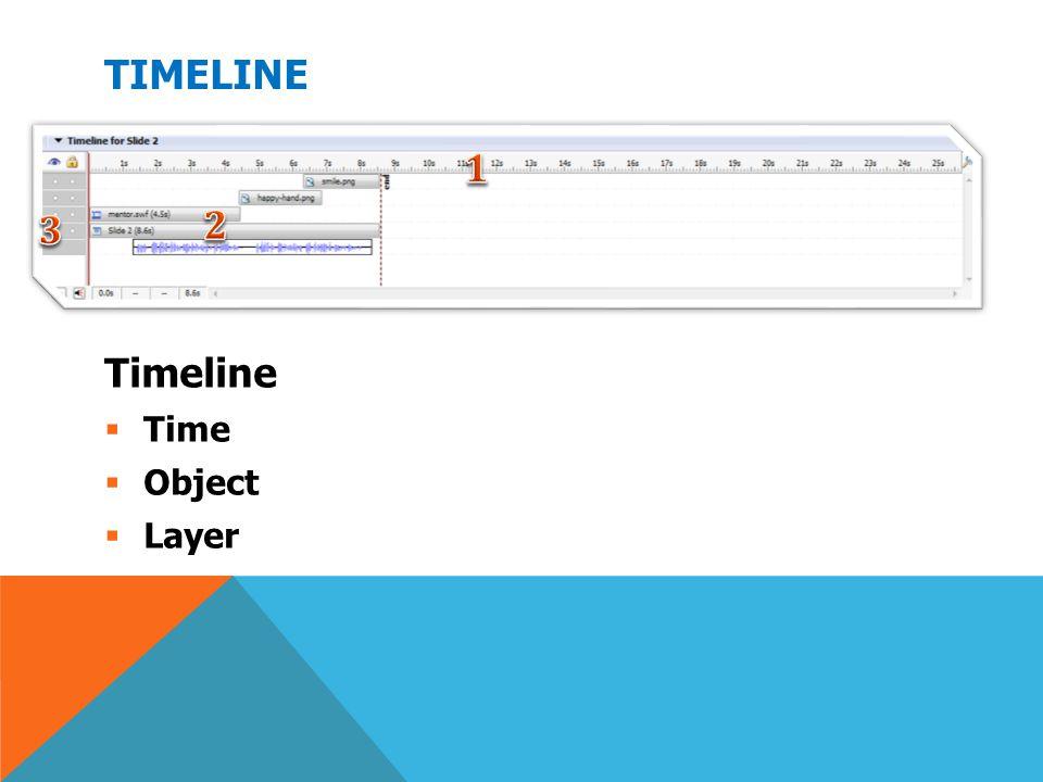 TIMELINE Timeline  Time  Object  Layer