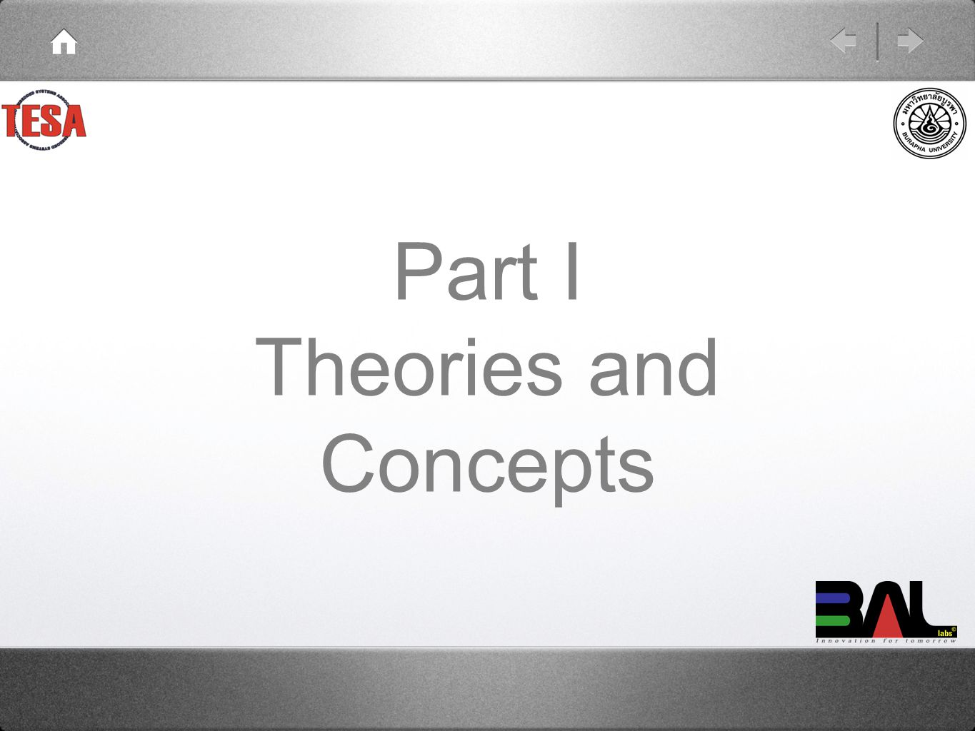 Part I Theories and Concepts