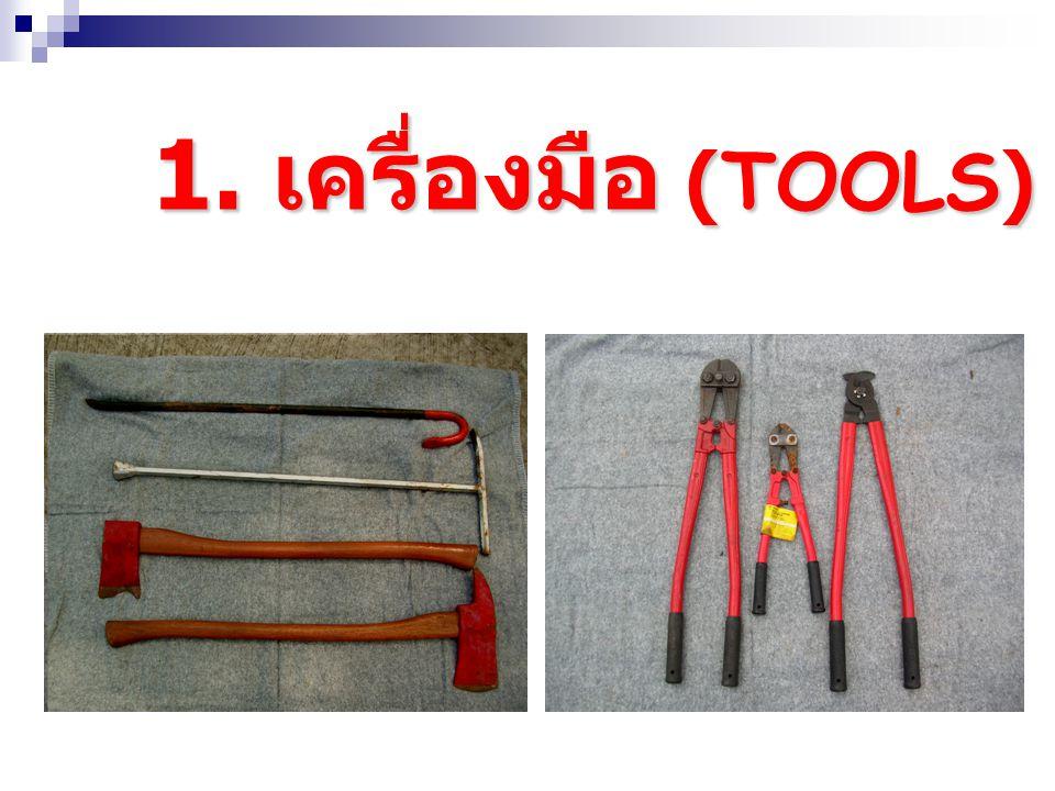 การแบ่งชิ้นส่วน ต่างๆ ตามประเภทการ ใช้งาน 1. เครื่องมือ (TOOLS) 2. อุปกรณ์ (EQUIPMENT) 3. ส่วนประกอบ (ACCESSORIES)