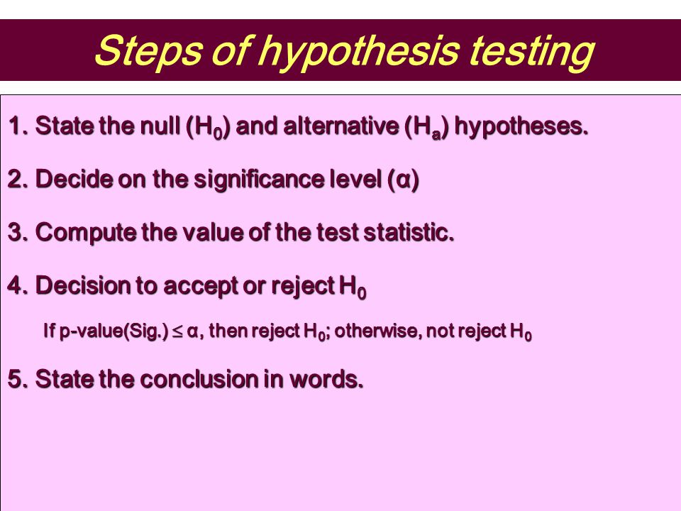 a.The hypotheses are H 0 : µ  800 mg b. The significant level c.