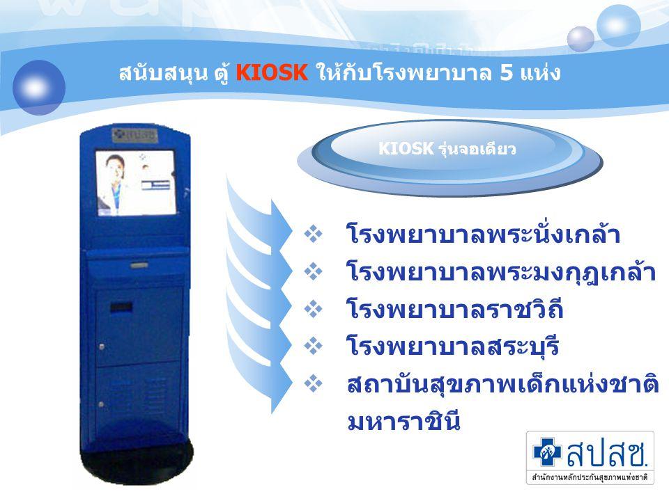 โปรแกรม ตรวจสอบสิทธิ ONLINE บนตู้ KIOSK 1 2 3 4