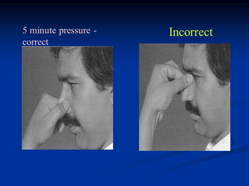 5 minute pressure - correct Incorrect