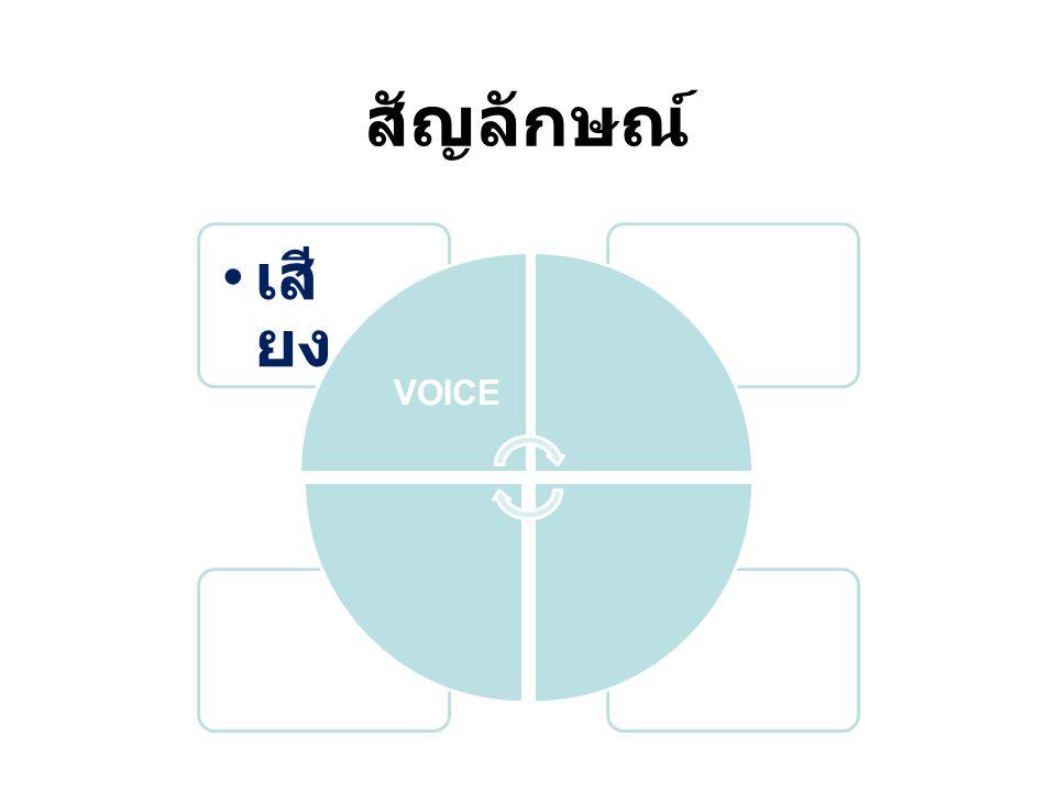 สัญลักษณ์ หน้ า เสี ยง VOICE FACE