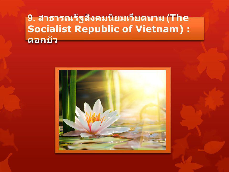 9. สาธารณรัฐสังคมนิยมเวียดนาม (The Socialist Republic of Vietnam) : ดอกบัว