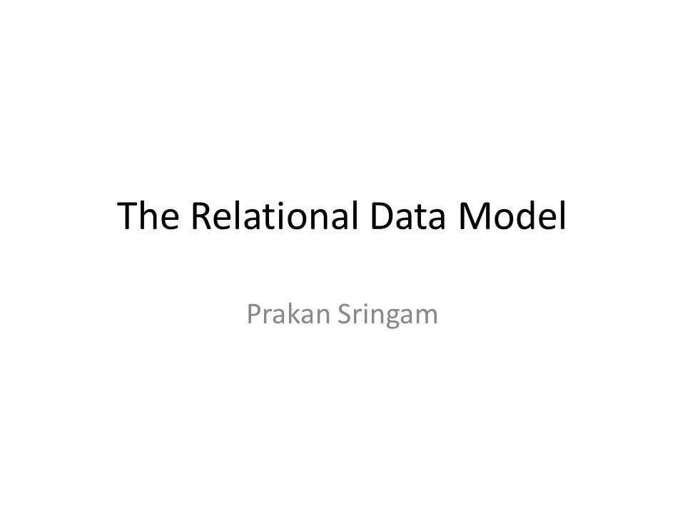 The Relational Data Model Prakan Sringam