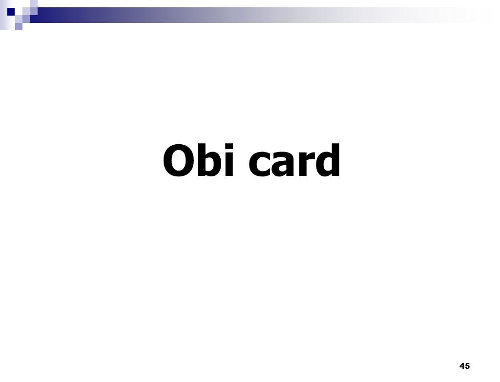 Obi card 45