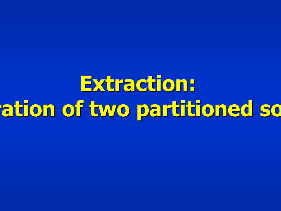 Extraction: Separation of two partitioned solutes