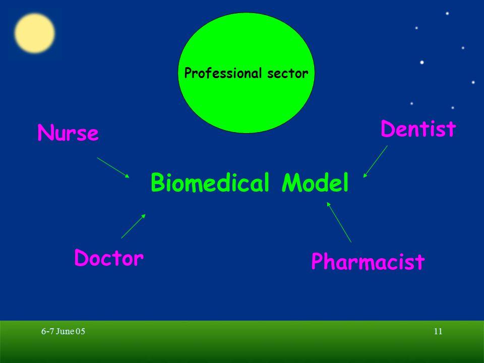 6-7 June 0511 Professional sector Biomedical Model Doctor Pharmacist Dentist Nurse