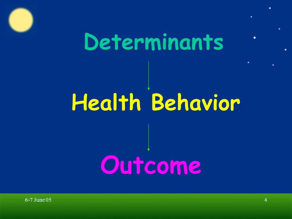 6-7 June 055 Health Behavior Illness Behavior Sick Role Behavior Preventive Health Behavior