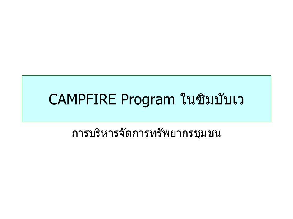 CAMPFIRE Program ในซิมบับเว การบริหารจัดการทรัพยากรชุมชน