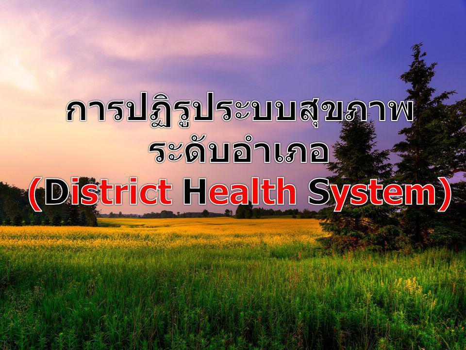 วิวัฒนาการของการจัดการ สุขภาพชุมชนในประเทศไทย