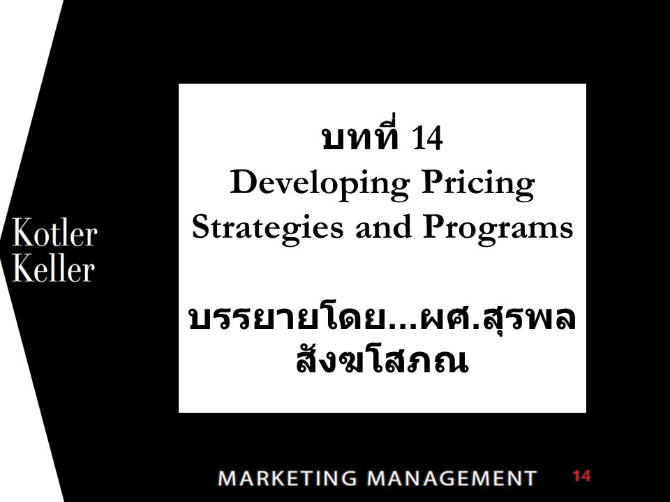 The Three Cs Model for Price-Setting Copyright © 2012 Pearson Education 14-22