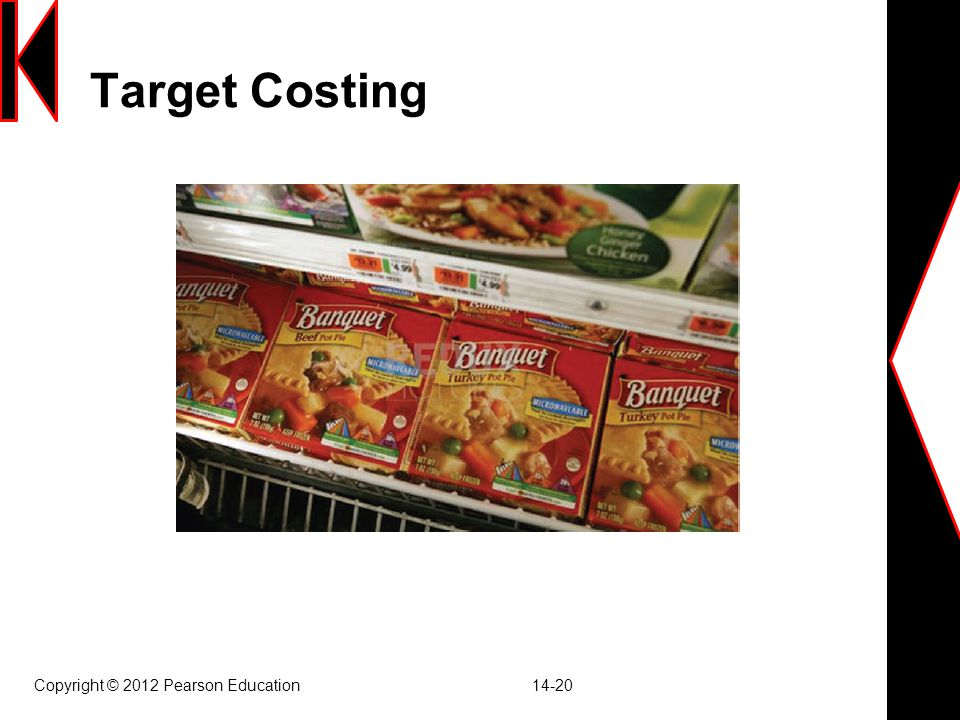 Target Costing Copyright © 2012 Pearson Education 14-20