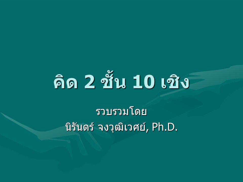 คิด 2 ชั้น 10 เชิง รวบรวมโดย นิรันดร์ จงวุฒิเวศย์, Ph.D.