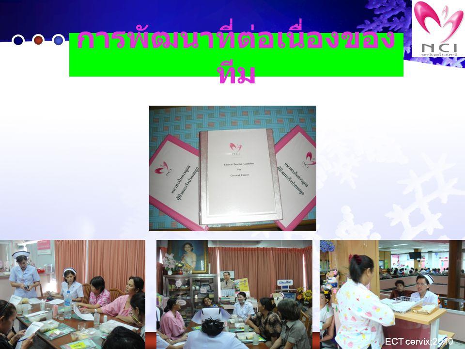 การพัฒนาที่ต่อเนื่องของ ทีม ECT cervix;2010