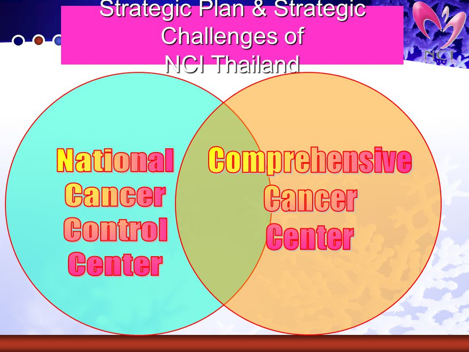 Strategic Plan & Strategic Challenges of NCI Thailand