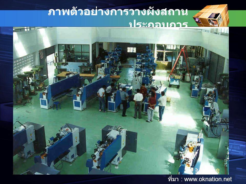 ภาพตัวอย่างการวางผังสถาน ประกอบการ Ref: www.controlsforyou.com