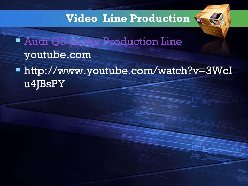 Video Line Production  Audi Q5 on the Production Line youtube.com Audi Q5 on the Production Line  http://www.youtube.com/watch?v=3WcI u4JBsPY