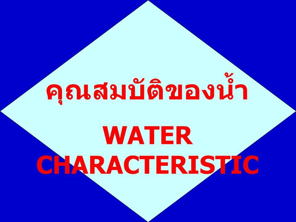  ปริมาณคลอไรด์ (Chloride) mg/l  คลอรีนอิสระ (Free Chlorine) mg/l  เหล็ก (Iron) mg/l Fe2+ ละลายน้ำได้ดี Fe3+ ละลายน้ำได้ไม่ดี  ซิลิกา (Silica) mg/l