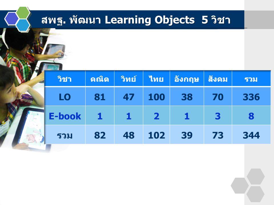 สพฐ. พัฒนา Learning Objects 5 วิชา