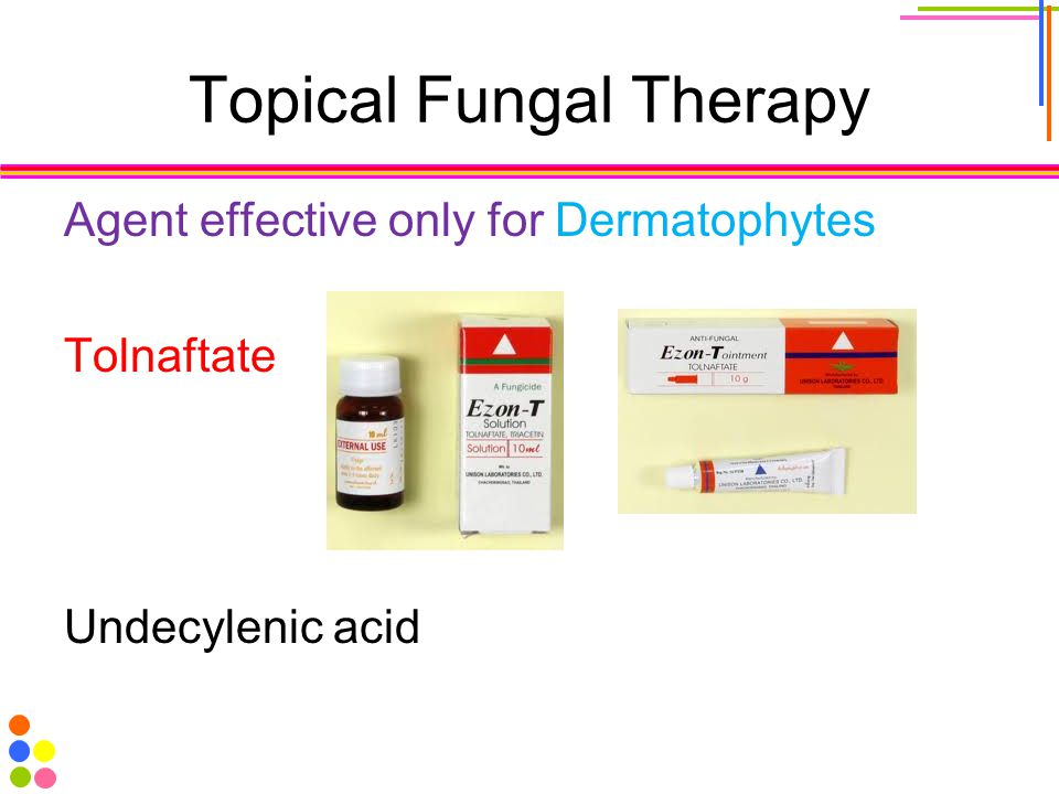 Topical Fungal Therapy Agent effective only for Dermatophytes Tolnaftate Undecylenic acid