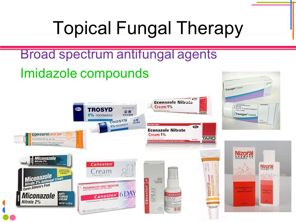 Topical Fungal Therapy Broad spectrum antifungal agents Imidazole compounds