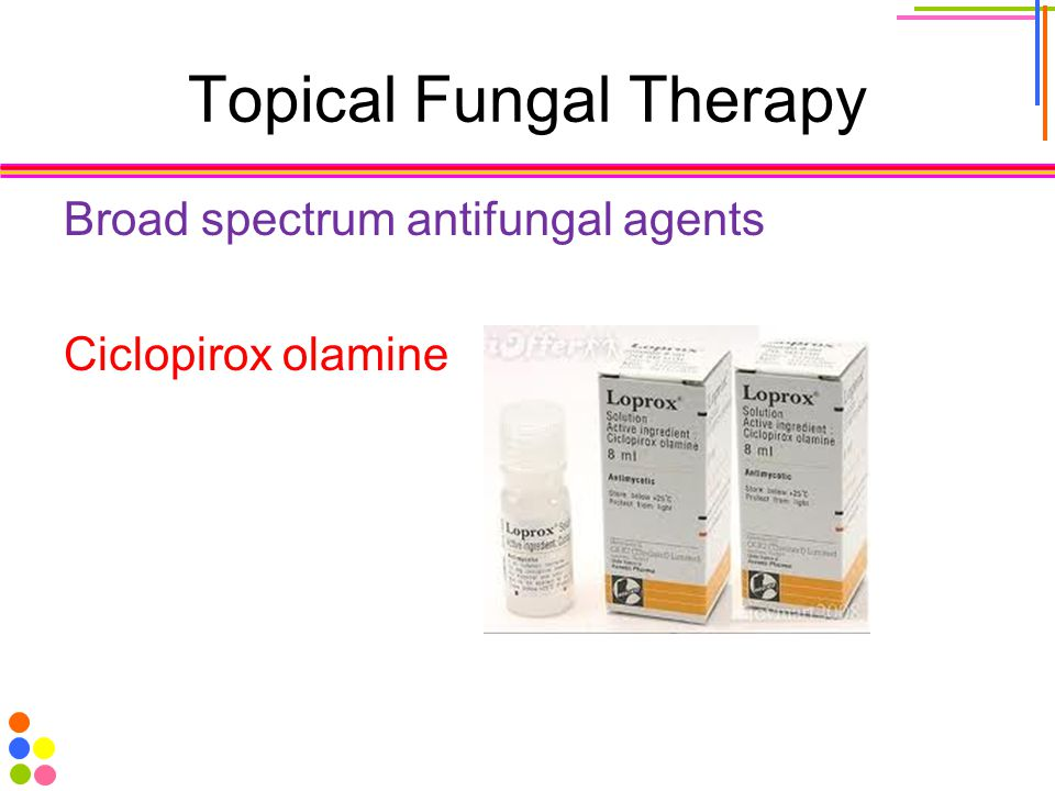 Topical Fungal Therapy Broad spectrum antifungal agents Ciclopirox olamine