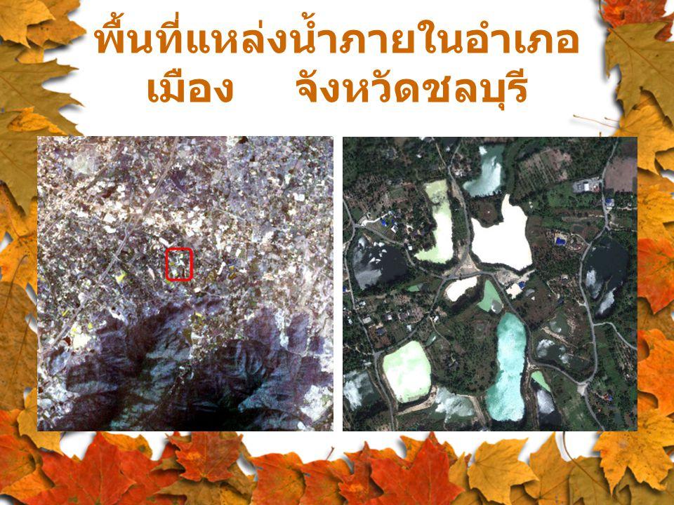 พื้นที่แหล่งน้ำภายในอำเภอ เมือง จังหวัดชลบุรี