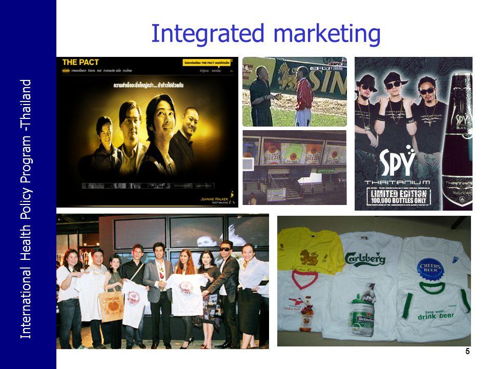 International Health Policy Program -Thailand 5 Integrated marketing