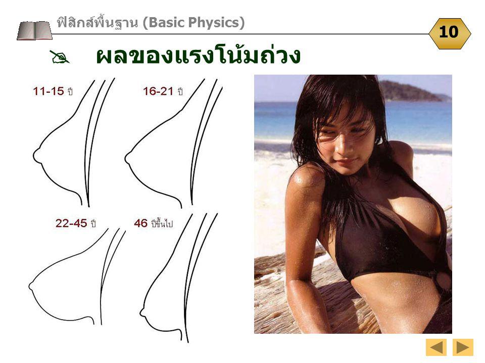 ฟิสิกส์พื้นฐาน (Basic Physics) 10  ผลของแรงโน้มถ่วง