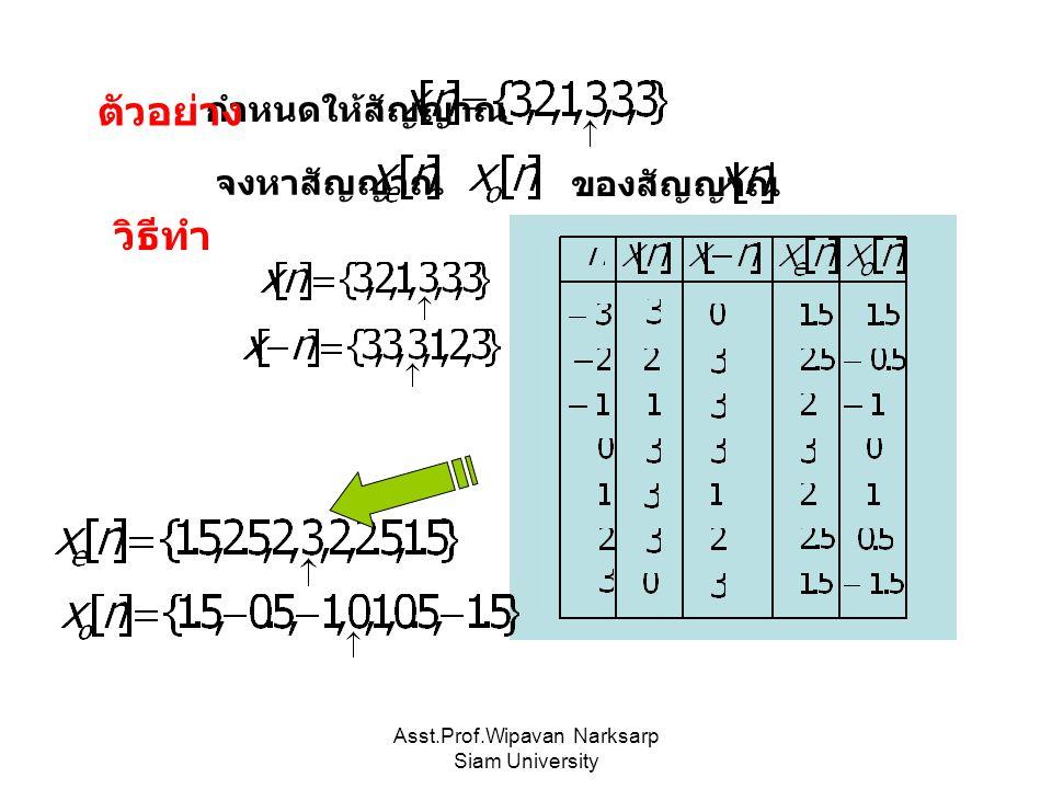 Asst.Prof.Wipavan Narksarp Siam University เป็นสัญญาณมีคาบเวลา วินาทีก็ต่อเมื่อ 2.
