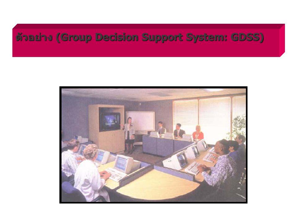 ตัวอย่าง (Group Decision Support System: GDSS)