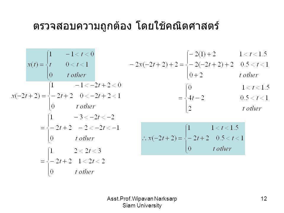 Asst.Prof.Wipavan Narksarp Siam University 12 ตรวจสอบความถูกต้อง โดยใช้คณิตศาสตร์