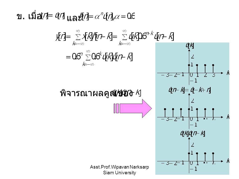 Asst.Prof.Wipavan Narksarp Siam University ข. เมื่อ และ พิจารณาผลคูณของ