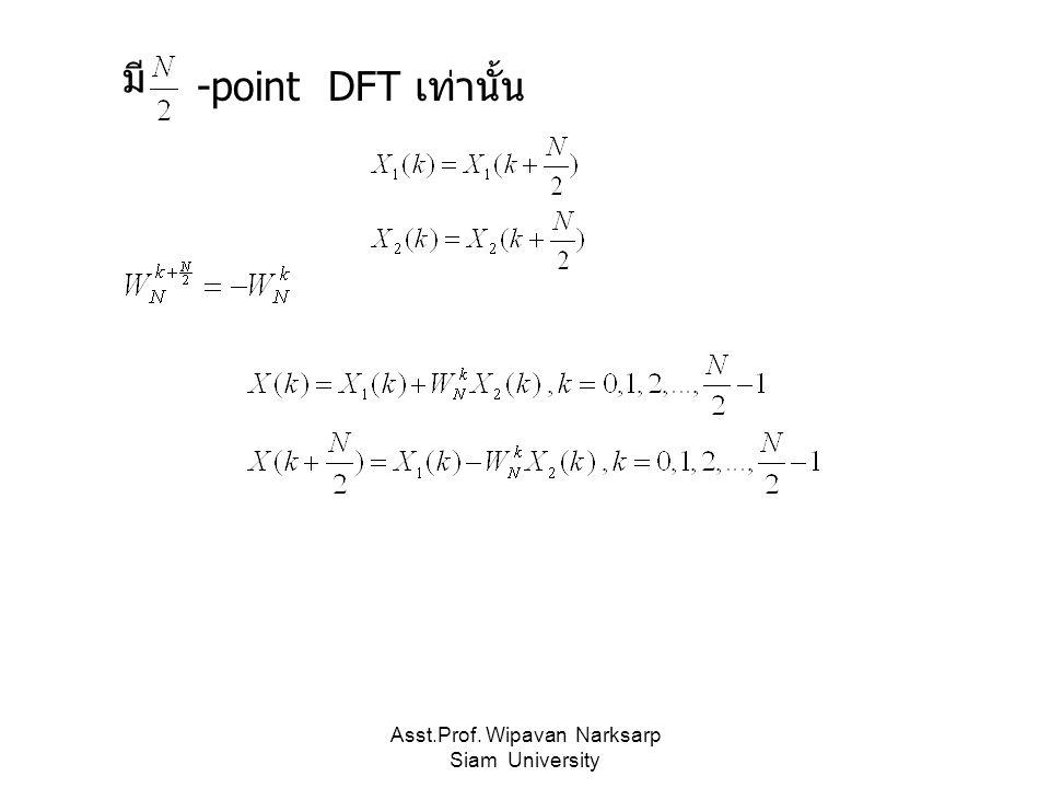 Asst.Prof. Wipavan Narksarp Siam University มี -point DFT เท่านั้น