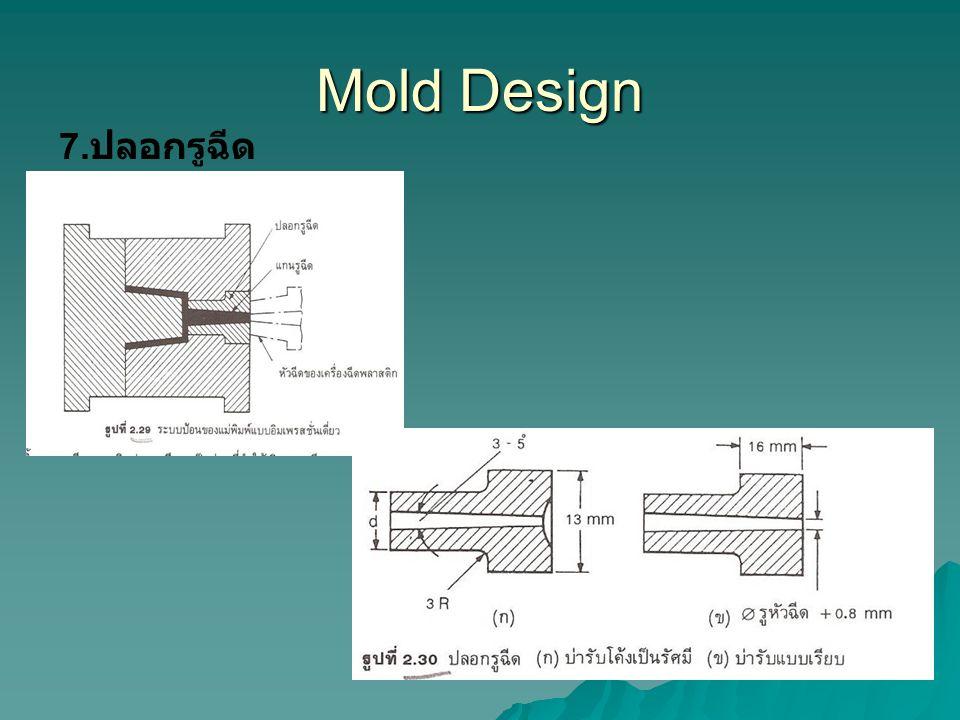 Mold Design 7. ปลอกรูฉีด