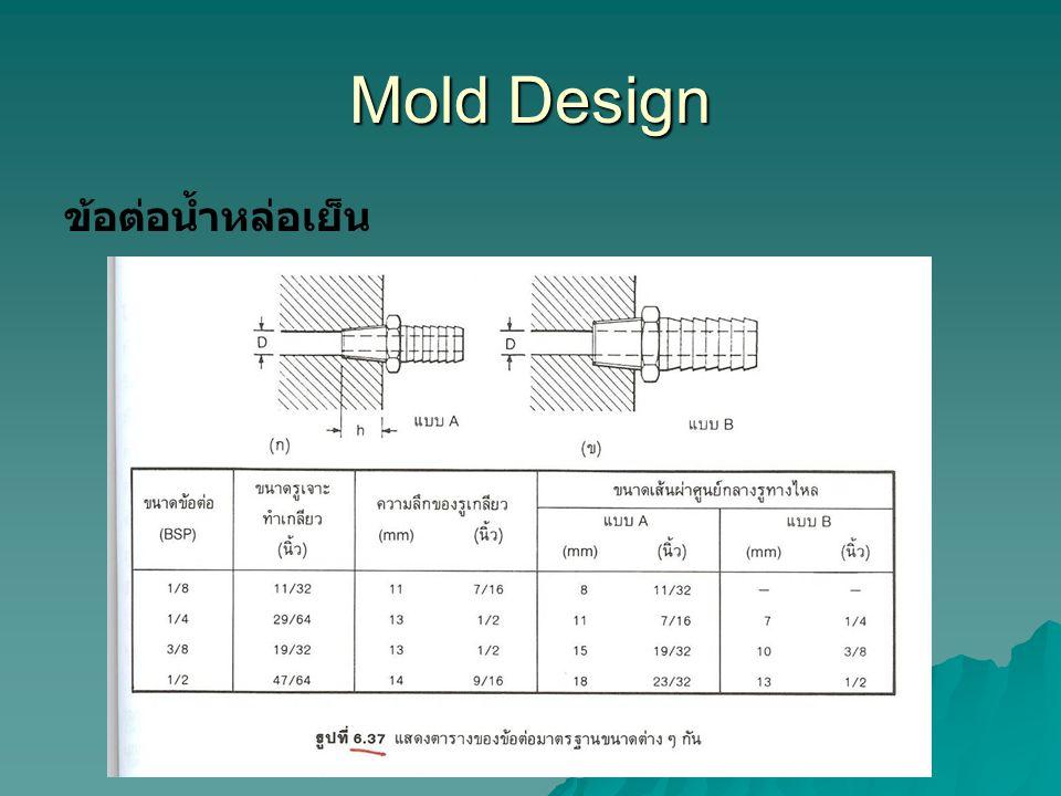 Mold Design ข้อต่อน้ำหล่อเย็น