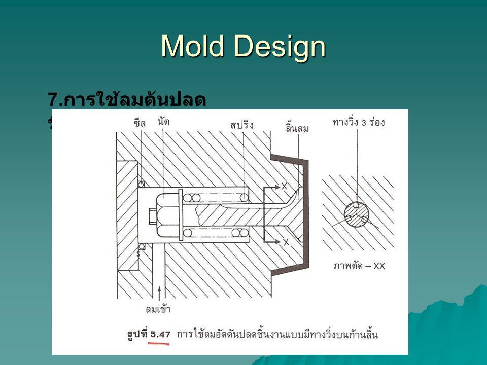 Mold Design 7. การใช้ลมดันปลด ชิ้นงาน