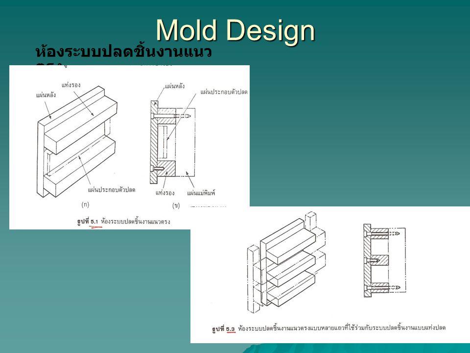 Mold Design ห้องระบบปลดชิ้นงานแนว ตรง