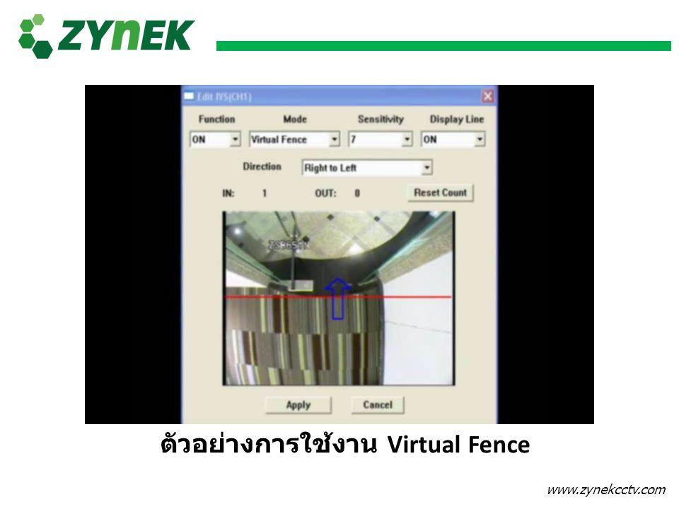 www.zynekcctv.com ตัวอย่างการใช้งาน Virtual Fence