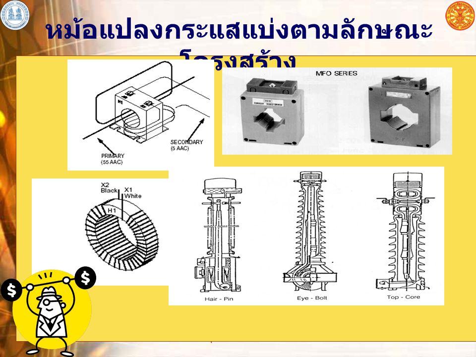 อุปกรณ์ไฟฟ้าโดยทั่วไป 15 หม้อแปลงกระแสแบ่งตามลักษณะ โครงสร้าง