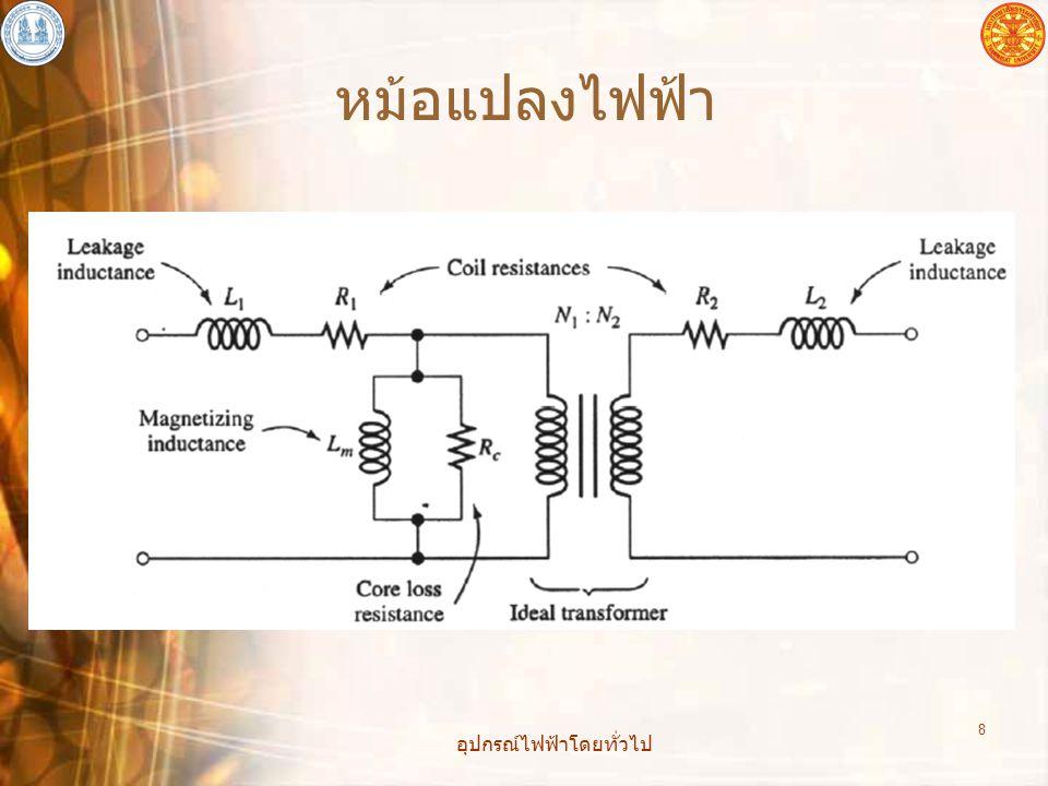 อุปกรณ์ไฟฟ้าโดยทั่วไป 9 1 kV/1 km 500 kV 100 หน่วย > 20 หน่วย Efficiency powerplant ประมาณ 52%