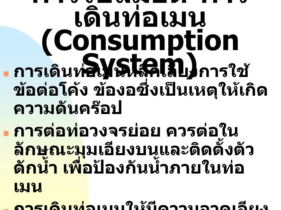 การใช้ลมอัด (Consumption System)