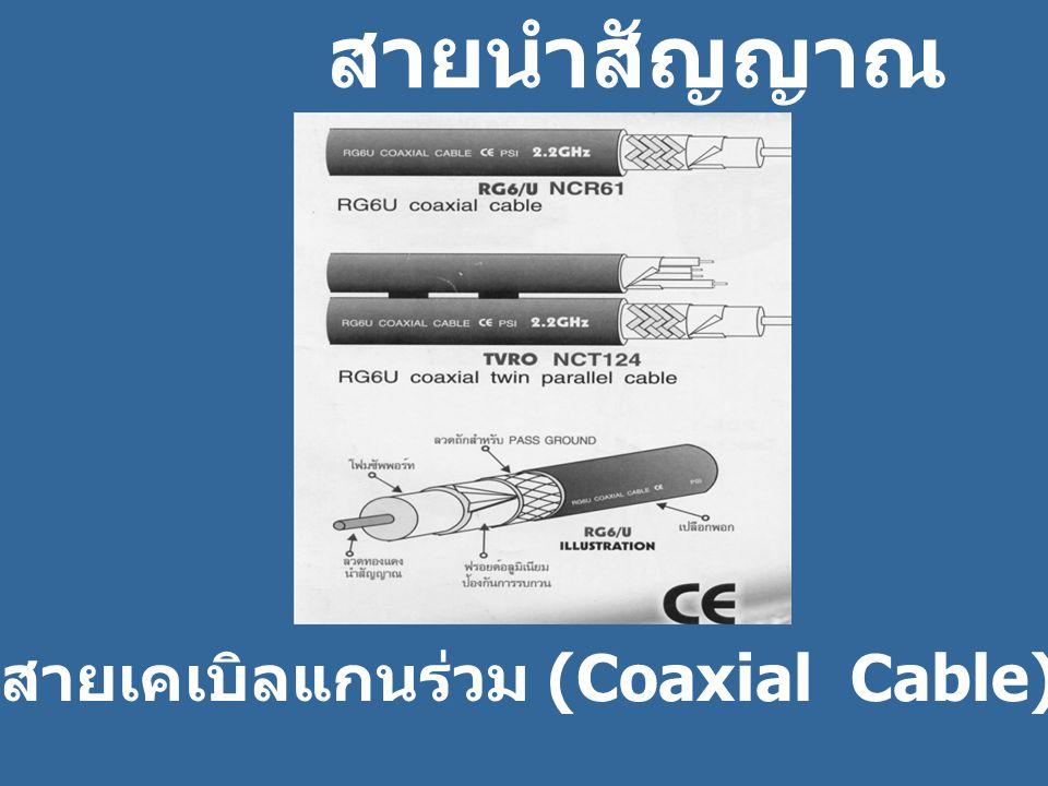 ห สายนำสัญญาณ สายเคเบิลแกนร่วม (Coaxial Cable)
